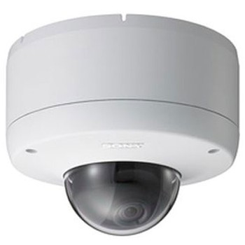 Sony SNC-DF80P vandal resistant mini dome IP camera with day/night switching, two way audio, motion detection and PoE