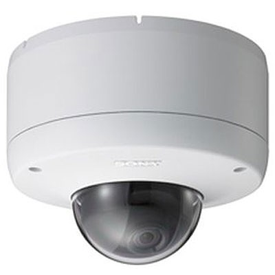 Sony SNC-DF85P vandal-resistant, outdoor mini-dome IP camera with day/night, two way audio and PoE