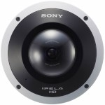 Sony SNC-HM662 outdoor mini-dome 5 megapixel IP camera with 360° hemispheric-view, advanced de-warping and PoE