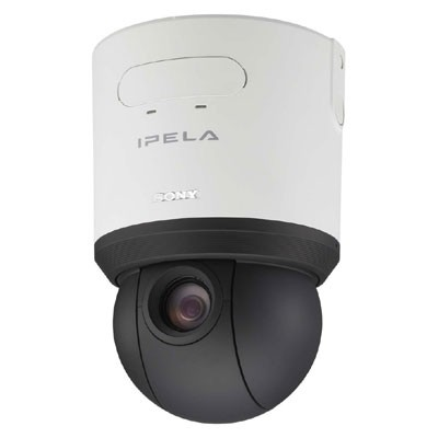 Sony SNC-RS46P Indoor PTZ dome IP camera with 36x zoom, day/night switching, 2-way audio, CF card slot, PoE, ONVIF