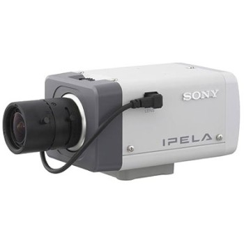 Sony SNC-CS11P static IP camera with DC auto iris lens, progressive scan sensor,  two way audio, motion detection and PoE