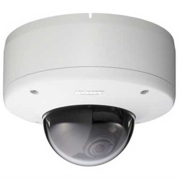 Sony SNC-DS60 outdoor mini-dome IP camera with PoE, 2-way audio, auto day/night switching and vandal resistant casing