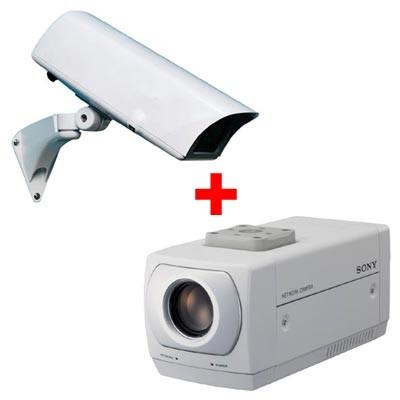 Sony SNC-Z20P Network camera - Outdoor bundle wall mount