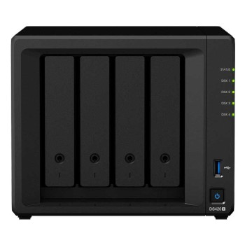 Synology DS420+ network attached storage (NAS) device, 4-bay, up to 64TB storage