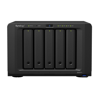 Synology DS1517+ network attached storage (NAS) device, 5-bay, up to 50TB storage