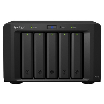 Synology DX513 expansion unit for use with DiskStation NAS and NVRs, up to 50TB of additional storage