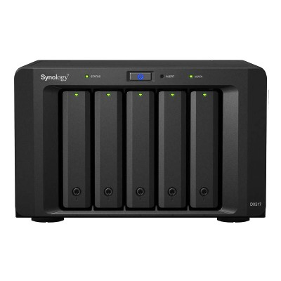 Synology DX517 expansion unit for use with DiskStation NAS devices, up to 50TB of additional storage