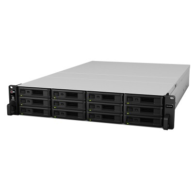 Synology RX1217RP expansion unit for use with RackStation NAS devices, up to 120TB of extra storage and fail-over support