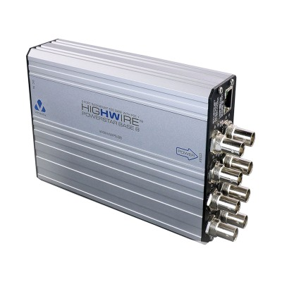 Veracity Highwire Powerstar (base unit), 8 channel Ethernet and PoE over coax unit with LinkLock