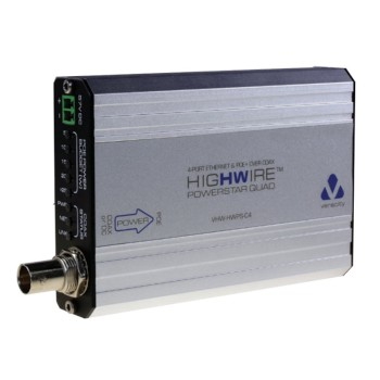 Veracity Highwire Powerstar Quad VHW-HWPS-C4 Ethernet and PoE over coax, 4-port