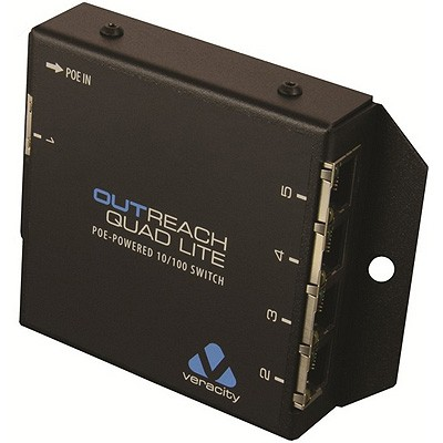 Veracity Outreach Quad Lite 10/100Mbps 5-port PoE-powered switch