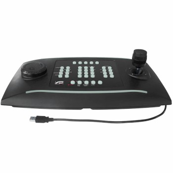 Videotec DCZ universal USB keyboard with joystick for managing CCTV applications on a PC, full Milestone integration