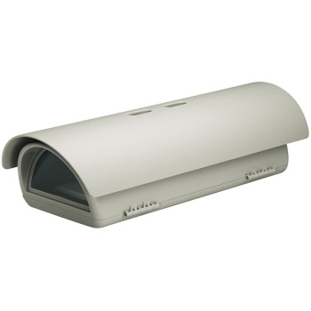 Videotec VERSO camera housing with sunshield and integrated heater, side opening, IP66 & IK10 rated