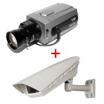 Vista VK2 1080BXDNe outdoor POE bundle, HD 1080p, true day/night IP camera with PoE and MicroSD card recording