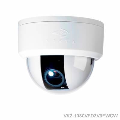 Vista VK2 1080VFD indoor IP camera with full HD 1080p, true day/night, varifocal lens, PoE and MicroSD card recording