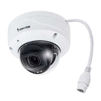 Vivotek FD9368-HTV outdoor vandal resistant dome IP camera with 2MP resolution, up to 30m IR, built-in microphone and PoE
