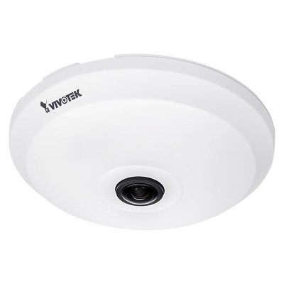 Vivotek FE9181-H indoor fisheye IP camera with 5 megapixel resolution, 360° view, WDR Pro, built-in microphone and PoE