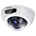 Vivotek FD8166A-N indoor mini-dome IP camera with HD 1080p resolution, 6m IR night-vision, one-way audio and PoE