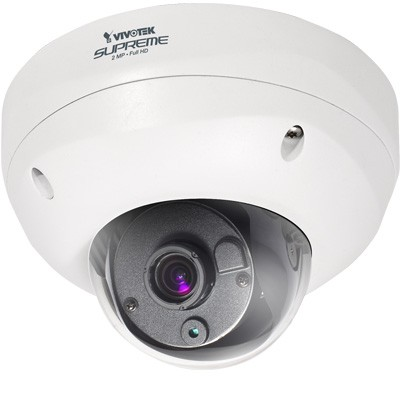 Vivotek FD8362 vandal-proof fixed dome outdoor IP camera with HD 1080p, wide dynamic range and remote focus