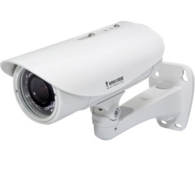 Vivotek IP8335H outdoor HD 720p bullet IP camera with 20m infrared lighting, wide dynamic range, MicroSD recording, audio