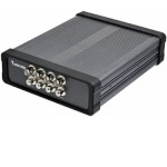 Vivotek VS8401 4-port network video server with 2-way audio, PTZ controls, motion detection, SD card recording