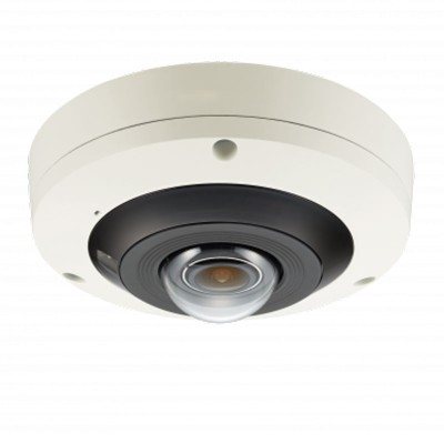 Wisenet PNF-9010R indoor vandal-resistant 4K network camera 360° view, 15m IR, built-in microphone and PoE