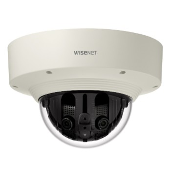 Wisenet PNM-9030V outdoor dome IP camera with 4K UHD resolution, multiple sensors and 180° or 220° viewing modes