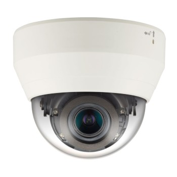 Wisenet QND-7080R indoor dome IP camera with 4MP resolution, varifocal lens, 20m IR, edge storage and PoE