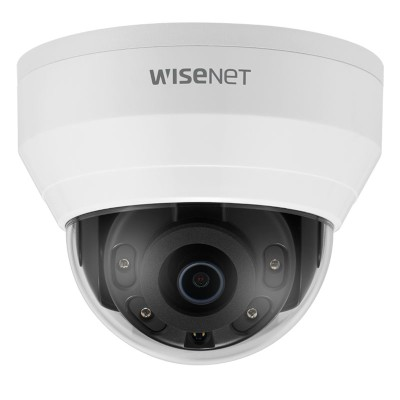 Wisenet QND-8010R indoor dome IP camera with 5MP resolution, up to 20m IR, WDR technology and edge storage