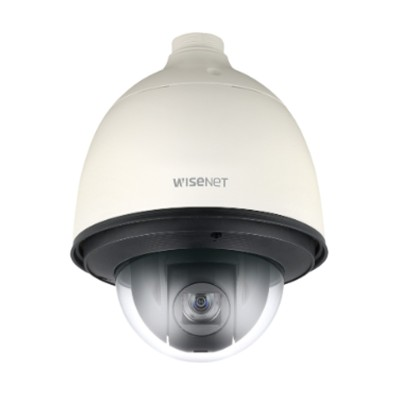 Wisenet QNP-6230H outdoor PTZ dome IP camera with 2MP resolution, 360° endless pan, 23x optical zoom, WDR and PoE+