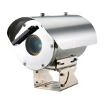 Samsung Wisenet TNO-6320E stainless steel ATEX-Certified IP camera with 2MP resolution, 32x optical zoom & intelligent VA