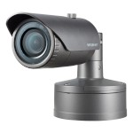 Wisenet XNO-8030R outdoor vandal-resistant bullet IP camera with 5MP resolution, up to 30m IR, edge storage and PoE