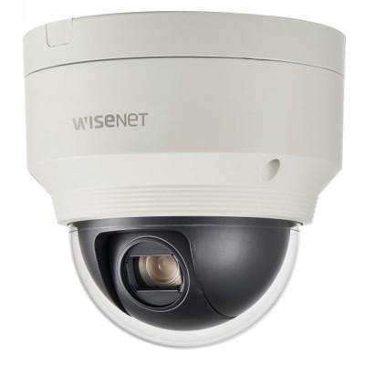Wisenet XNP-6120H outdoor mini-PTZ IP camera with 2MP resolution, 360° pan, 12x optical zoom, edge storage and PoE