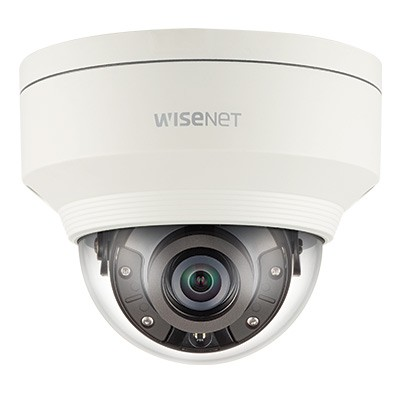 Wisenet XNV-6020R vandal-resistant outdoor IP camera with 2MP resolution, up to 30m IR, audio support & PoE